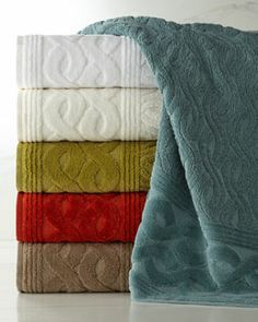 Chain Links Towels by Cobra Trading at Horchow. Bathroom Towels, Bath Towels, Hotel Towels, Towel Dress, Chain Links, Self Design, Color Balance, Bath Linens, Towel Set