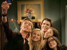 Delia (Sarah), Jasmine (Piper), Logan (Austin), Lindy (Olivia), and Garrett (Peyton)