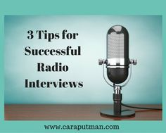 The Writers Alley: 3 Tips for Successful Radio Interivews