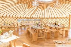 Wedding Yurt - cool!!  Maybe we could get married in the fall and this would keep the room a good temperature