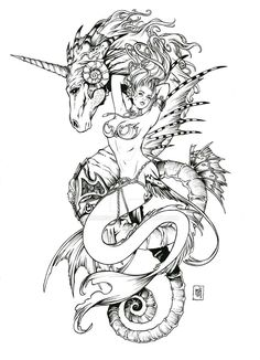 ...maybe something like this but a dragon instead of sea horse -k