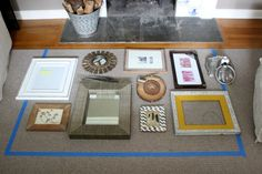 Driven by Decor - Gallery wall tip - lay out arrangement on floor first