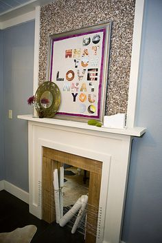 Do What You Love poster made by cutting letters out of magazine pages - tutorial on Kara Paslay blog.