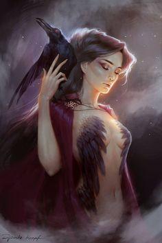 morrigan.raven goddess.protector.ruler.wise.divine.
