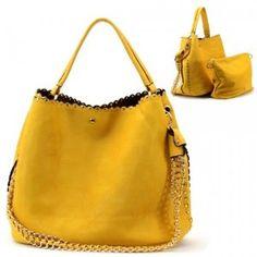 9756eb3eea44 Gold Metal Studs Purse and Bag   Handbag   Bag in Bag   Yellow    Rchd0085yew · Louis Vuitton HandbagsPrada ...
