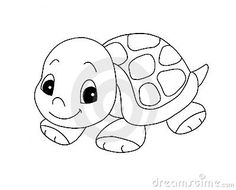 cute little girl turtle clip art | Black And White - Cute Turtle Royalty Free Stock Photo - Image ...