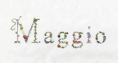 Decorated name design. I am available for commission ¦¬)
