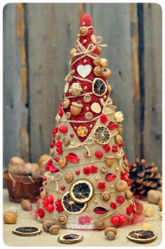 Christmas tree handmade home decor by ArtWithice on Etsy