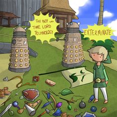 How else can he fit all of his stuff in that backpack of his? Conclusion: Link is a Time Lord.