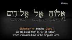 Elohim means the plural name of God.