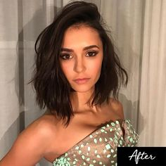 """- But in true """"new year, new you"""" fashion, she went for a drastic hair makeover to start 2017. Nina is proof that change can not only feel good, but also look good."""