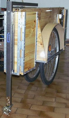 Bike Trailer, Petit Camping Car, Velo Tricycle, Bicycle Sidecar, Mobile Food Cart, Go Ride, Homemade Tools, Bike Parts, Bicycles