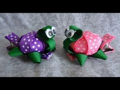 So cute!! TINY 3D TURTLE Ribbon Sculpture Zoo Animal Girl's Hair Clip Bow DIY Free Tutorial by Lacey