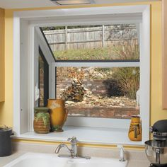 Creative Nice Modern Cool Wonderful Elegant Garden Windows For Kitchen With  Nice Glass Ceiling And Wall