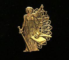 Attorney Pin Brooch Lawyer 24 Karat Gold Plate by NostalgicCharm