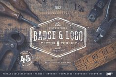 Vintage Badge and Logo Toolkit by The Beacon Collection on @creativemarket