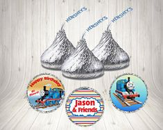 Personalized Thomas The Train Birthday Party Hershey Kiss Labels, Boys Birthday Party, - Edit Listing - Etsy Thomas The Train Birthday Party, Trains Birthday Party, Boy Birthday, Birthday Parties, Hershey Kisses, Party Favors, Baby Shower, Stickers, Boys