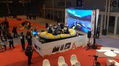 Simulador de rafting en el pabellón de Aragón en Fitur 2014