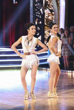 #MerylDavis dances the Samba with #DanicaMcKellar during their celebrity dance duel routine on #DWTS Week 8 (5/5/15)