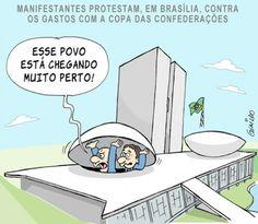 Protestos chegam a Brasília