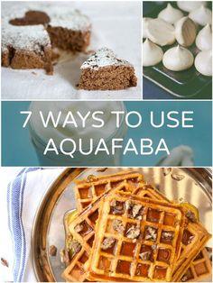 Ways to use aquafaba