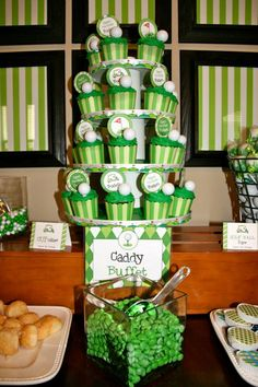 """Golf theme birthday party - """"Caddy"""" buffet (with printables from Chickabug)"""