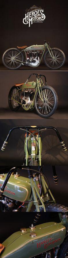 1920 HARLEY-DAVIDSON BOARD TRACK RACER #heroesmotors #caferacer #vintagemotorcycles #triumph #harleydavidson #losangeles #california #norton #vincent #indian #classicmotorcycles #ateliersbueno #photosergebueno
