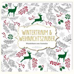 Wintertraum /& Weihnachtszauber 10 Grußkarten zum Ausmalen Weihnachten Karten