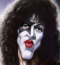 Caricatures-Paul Stanley from Kiss Cartoon Faces, Funny Faces, Cartoon Art, Caricature Artist, Caricature Drawing, Funny Caricatures, Celebrity Caricatures, Paul Stanley, Funny Facebook Posts
