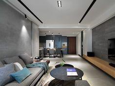Residence L. on Behance Tv Cabinet Wall Design, Living Room Tv Unit Designs, Bedroom False Ceiling Design, Living Room Decor Inspiration, Home Interior Design, House Design, Home Decor, Ideas, Drawing Room Decoration