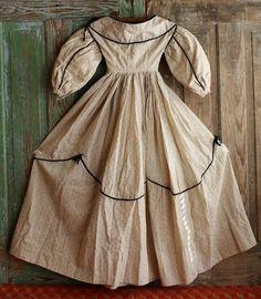 antique china head period dress