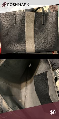 Handbag Simple, open with one small pocket inside hand bag. Great for carrying your laptop Bags Laptop Bags Laptop Bags, Black And Grey, Handbags, Pocket, Best Deals, Simple, Closet, Things To Sell, Armoire