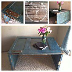 puerta jubilado HACER En Una mesa de café, bricolaje, muebles avivamientos muebles, reutilización Upcycling, Proyectos de carpintería