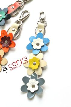 Hey, I found this really awesome Etsy listing at https://www.etsy.com/listing/222281100/handmade-leather-flowers-keyring-leather