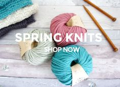 Knitters! New chunky wool yarn colours added, 100% merino wool, learn to knit, sustainable yarn, bulky