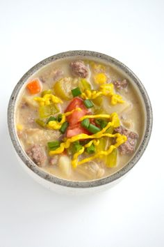 The Nutritionist Reviews: Cheeseburger Soup