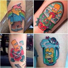 streets of beige the simpsons tattoo on instagram terrif ink pinterest the simpsons the. Black Bedroom Furniture Sets. Home Design Ideas