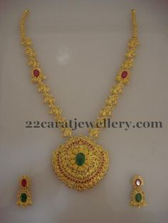 Jewellery Designs: Fancy Pachi Long Set