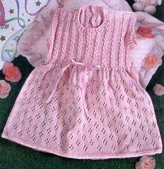 Потрясающее летнее платье спицами. Розовое ажурное платье спицами