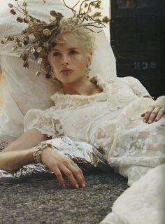 Kylie Bax for Vogue Italia September 1996, photographed by Steven Meisel