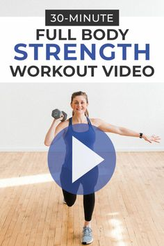 Full body strength training! This dumbbell circuit workout consists of 16 strength training exercises broken into 4 circuits. Follow along with this 30 minute at home workout video to strengthen every major muscle group while raising your heart rate and breaking a sweat.