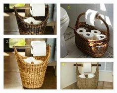 El papel higiénico es imprescindible en el cuarto de baño. Aquí vemos algunas ideas para guardarlo.