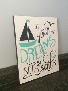 Nautical nursery let your dreams set sail by JessieAnnCreations