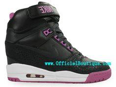 Chaussures Pour Femme Nike Air Revolution Sky Hi GS Noir Rose 599410-001