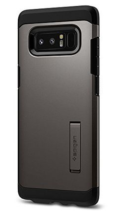 Spigen Tough Armor Galaxy Note 8 Case with Kickstand and Extreme Heavy Duty Protection and Air Cushion Technology for Galaxy Note 8 - Gunmetal Samsung Galaxy Note 8, Mobile Accessories, Cover, Cushion, Technology, Design, Orchid, Electronics, Gray