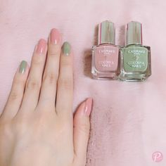 Good coloring and good cospa ♡ Color scheme using polish of CANMAKE . - Good coloring and good cospa ♡ Color nails with CANMAKE polish Cute Spring Nails, Summer Nails, Cute Nails, Pretty Nails, Nail Manicure, Nail Polish, Korean Nails, Exotic Nails, Minimalist Nails