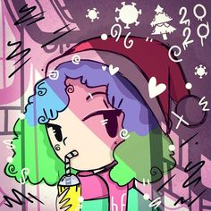 #christmas #digitalart #art #illustration #ilustracion #girl #winter #navidad #celebracion #2020 #draw
