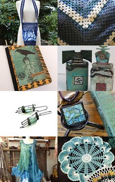 Hanging on to the blues and greens of summer by Pamela Bernstein on Etsy--Pinned with TreasuryPin.com