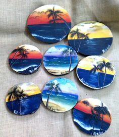 Tropical Coasters (PosaVasos Pintados a Mano)