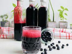 Sirop de afine fără zahar, ideal pentru diabetici și pentru cei care vor sa aibe o viața sănătoasă – Chef Nicolaie Tomescu Stevia, Red Wine, Alcoholic Drinks, Glass, Gem, Food, Syrup, Drinkware, Corning Glass